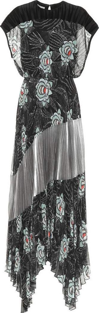 Dries Van Noten Pleated floral maxi dress