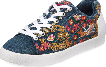 ASH Nippon Denim Embroidered Sneaker