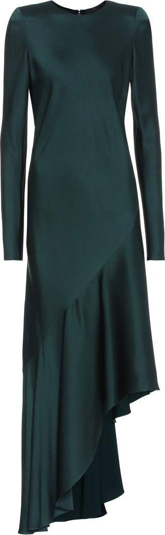 Haider Ackermann Long-sleeved satin dress