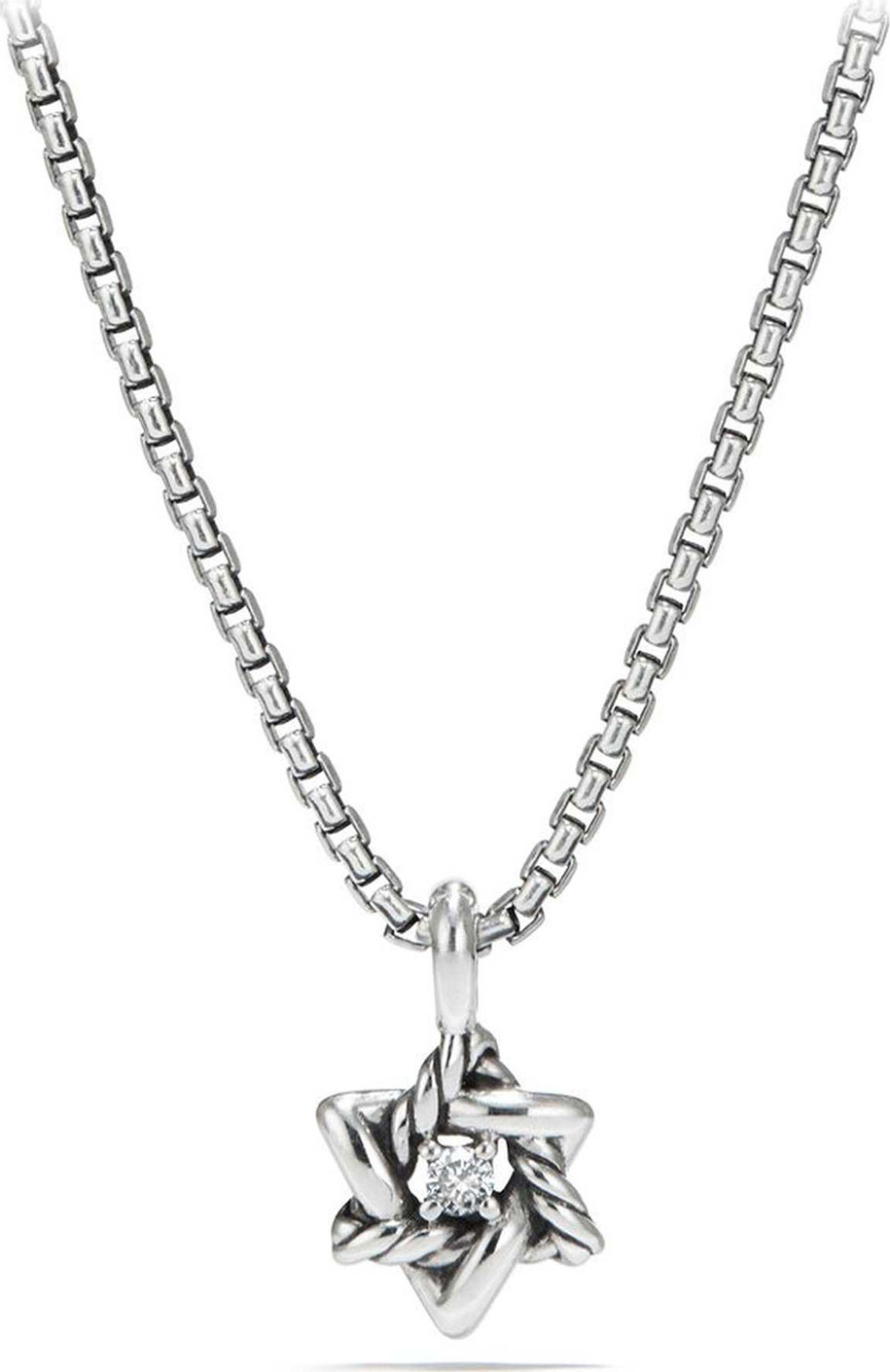 David Yurman Kids Cable Collectibles Silver Star Of David Necklace
