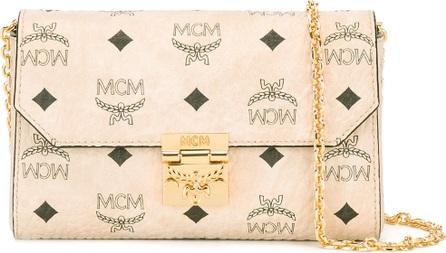 MCM logo print clutch