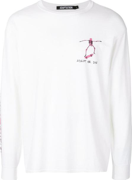 Adaptation Adapt Or Die printed sweatshirt