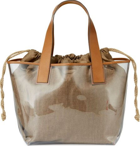 Brunello Cucinelli See-Through Shoulder Tote Bag