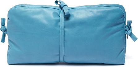 A.W.A.K.E 'Maud' tie padded leather clutch