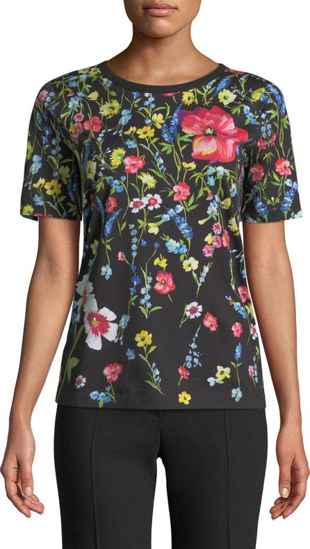 Escada Short-Sleeve Floral-Print Cotton Tee