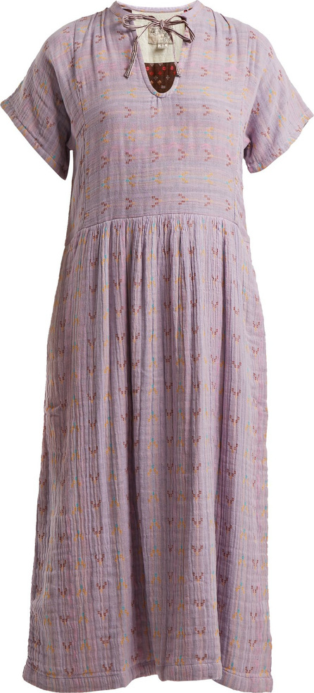 ace&jig Merrit geometric-jacquard tie-neck dress