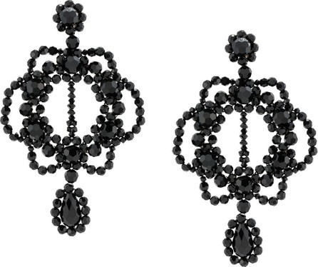 Simone Rocha Oversized crystal-drop earrings