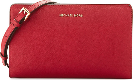 MICHAEL MICHAEL KORS Jet Set Large Leather Crossbody Clutch Bag