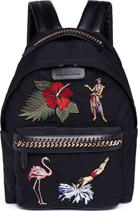 Stella McCartney 'Falabella Go' appliqué nylon backpack