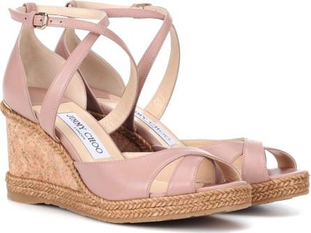 Jimmy Choo Alanah 80 leather wedge sandals