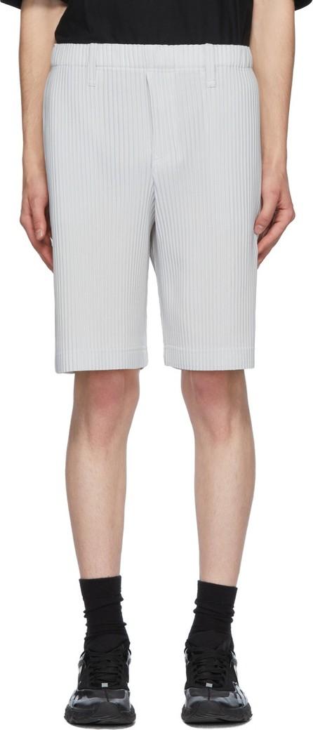 Homme Plissé Issey Miyake Grey Tailored Pleats 2 Shorts