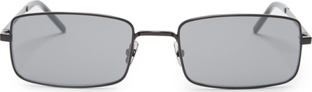 Saint Laurent Small rectangle-frame metal sunglasses