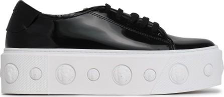 Versus Versace Embellished patent-leather platform sneakers