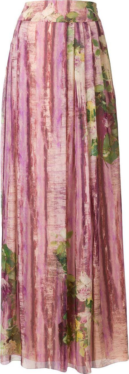 Alberta Ferretti floral print long skirt
