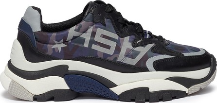 ASH 'Action' chunky outsole logo camouflage print leather sneakers