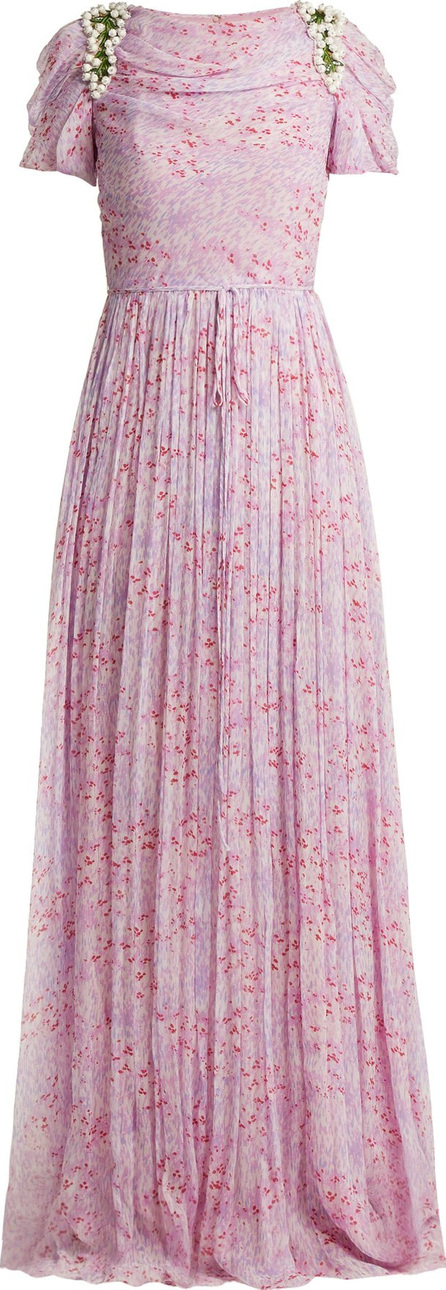 Carolina Herrera Wildflower-print silk-chiffon gown