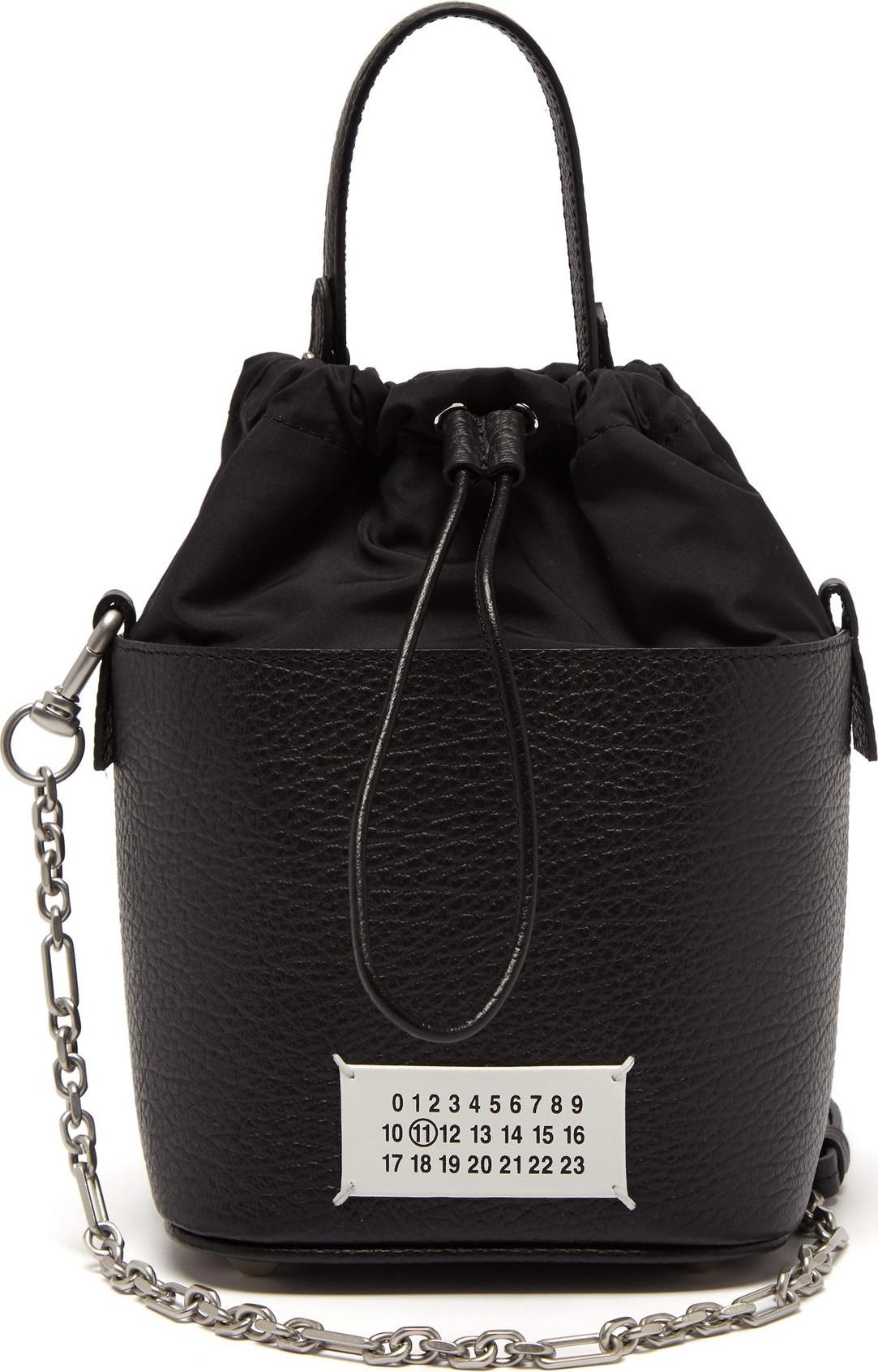 c5b229e963c8d Maison Margiela Grained-leather bucket bag