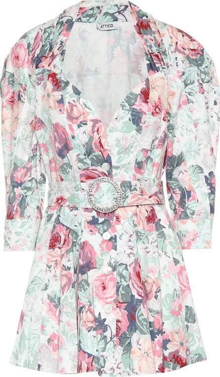Attico Floral-printed cotton minidress
