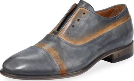 John Varvatos Men's Eldridge Laceless Leather Oxfords