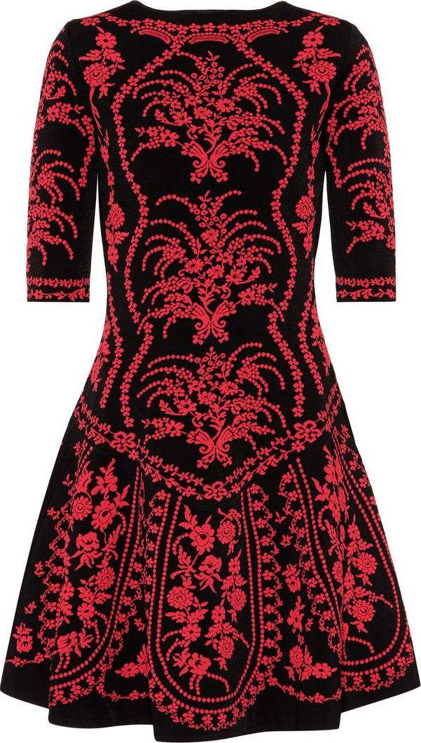 Oscar De La Renta - Floral A-line dress