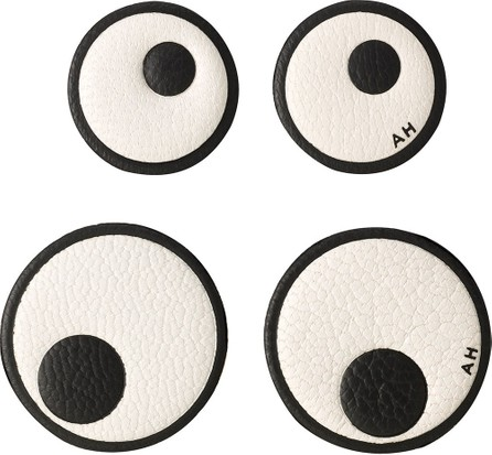 Anya Hindmarch Leather Eye Stickers for Handbag, Chalk