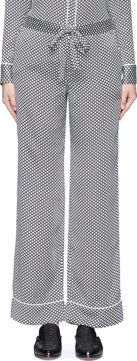 Equipment x Kate Moss 'Avery' star print silk pyjama pants