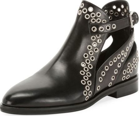 Alaïa Leather Booties with Grommets