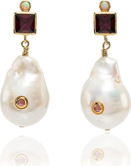 Anni Lu Pearl drop ruby earrings