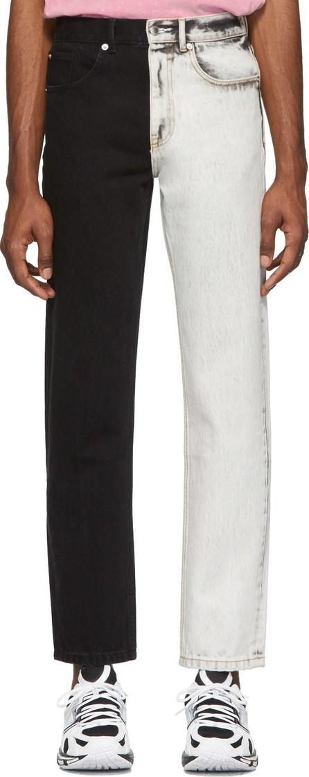 Alexander Wang White & Black Bicolor Five-Pocket Jeans