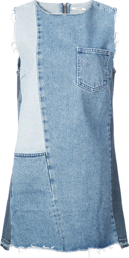 Grlfrnd Patchwork denim mini dress