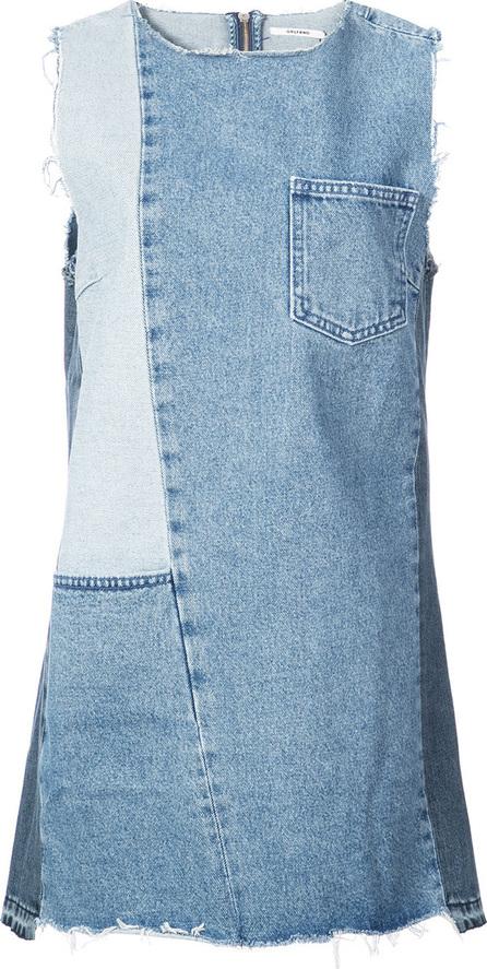 Grlfrnd Patchwork denim mini dress