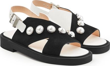 Carven Studded Suede Sandals