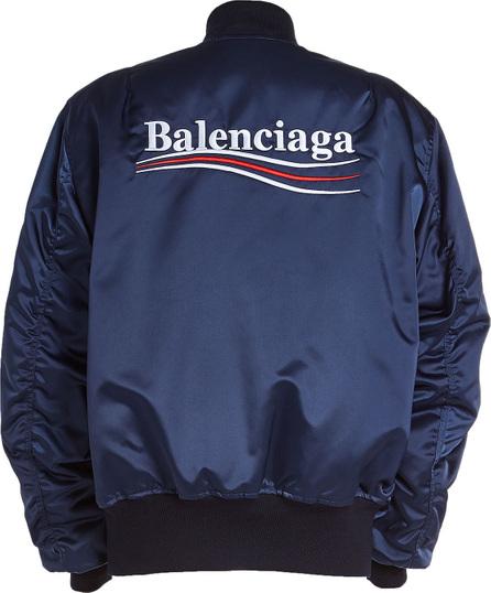 Balenciaga Political Satin Bomber Jacket