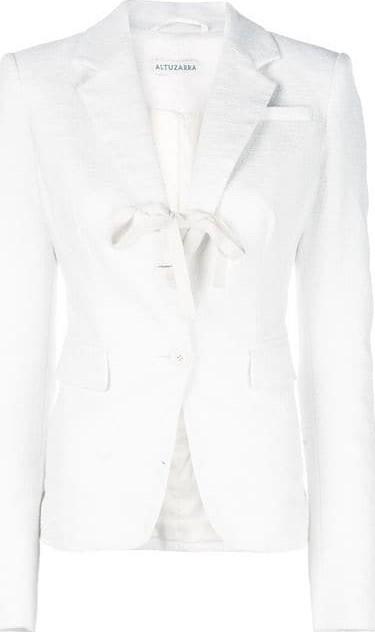 Altuzarra Salerno Open Front Tie Blazer