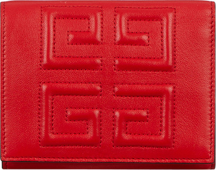 Givenchy Emblem Colorblock Leather 3-Fold Wallet