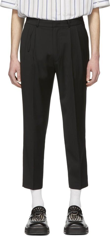 ADER error Black Cropped Cinder Trousers