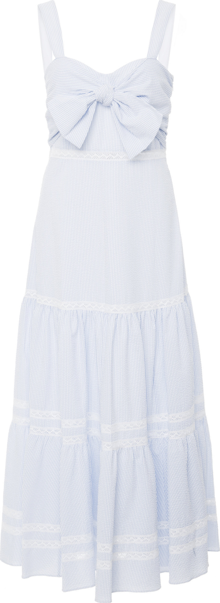 Jonathan Simkhai - Tiered Cotton-Blend Maxi Dress