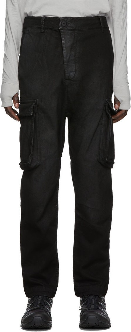 11 By Boris Bidjan Saberi Black Used Felt Cargo Pants