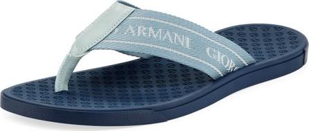 Giorgio Armani Men's Logo Jacquard Flip-Flops
