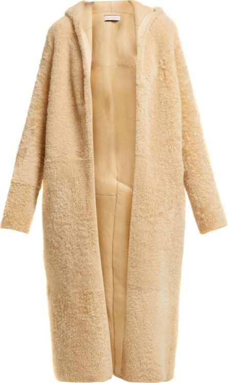 Inès & Maréchal Elton hooded shearling coat