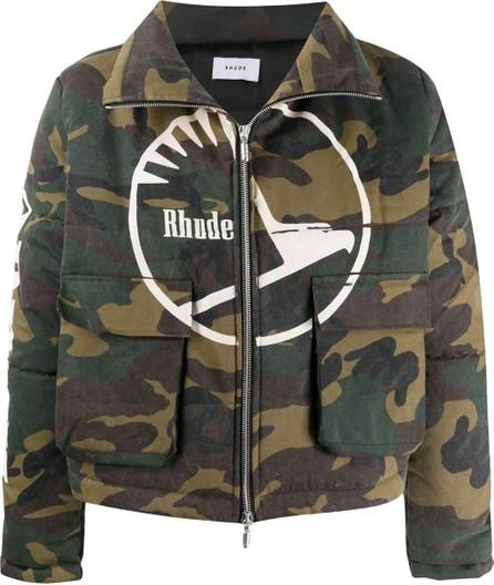 RHUDE Padded camouflage jacket