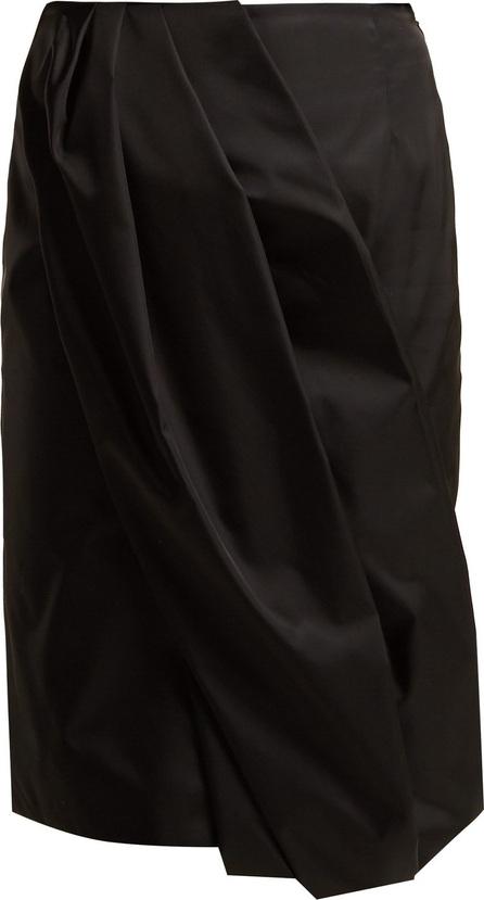 Prada Wrap-effect nylon skirt
