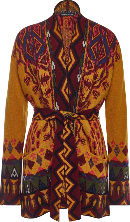 Etro Belted Cardigan in Wool and Cashmere