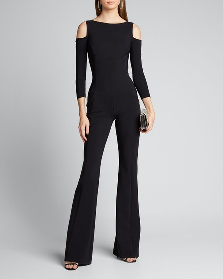 La Petite Robe di Chiara Boni Cold Shoulder Long-Sleeve Jumpsuit