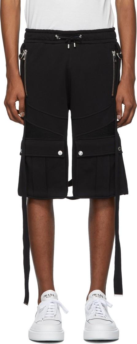 Balmain Black Harness Shorts