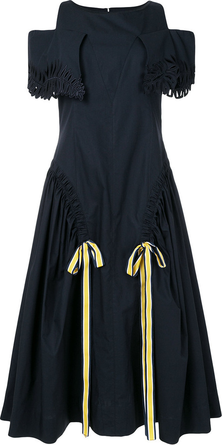 Fendi Off-shoulder flared dress