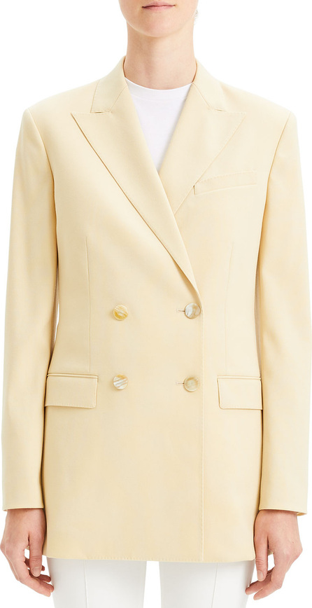 Theory Double-Breasted Tailored Wool Blazer