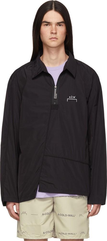 A-Cold-Wall* Black Diagonal Piping Shirt