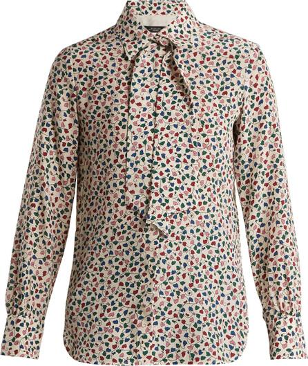Weekend Max Mara Leaf-print silk blouse