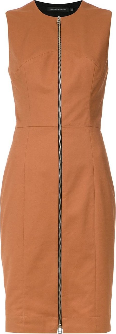Andrea Marques Zipped slim fit dress